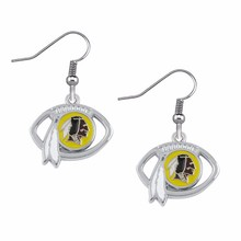5 Pairs Football Fans Earrings Alloy With Enamel American Football Washington Redskins Charm Drop Earrings