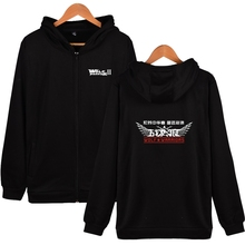 Two Step Wolf Warrior 2 Fashion Hoodies With Zipper Men Women Casual Clothing Winter Hooded Sweatshirts(China)