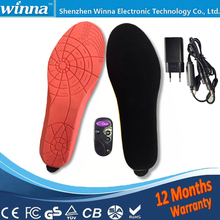 Electric heating Super warm boots insoles winter  remote control for shoes woman and men shoes Free shipping 1900MA