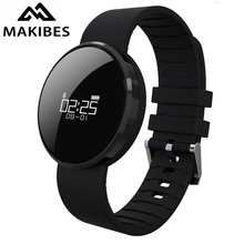 IN STOCK Makibes UW1 Bluetooth4.0 Smart Bracelet mirror Screen Heart Rate Monitor IP67 Waterproof  Call Reminder for Android iOS