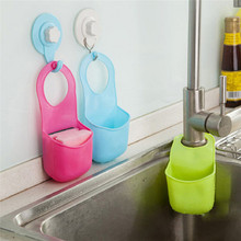 1PC Rubber Kitchen Bathroom Storage Bag Hanging sink holder rack kitchen accessory container water leaking design on sale(China)