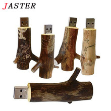 JASTER Wholesales Newest Novelty Flash disk Wooden model branch memory stick pendive 8GB 16GB 32GB thumb drive U disk mini gift