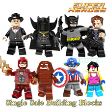 Building Block X-Men Clayface Batman Panther Jubilee Cowboys Flash America Super Heroes Kid DIY Toys Bricks PG8088 Figures Model(China)
