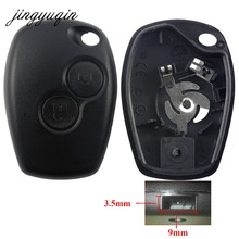 jingyuqin 2 Buttons Car Key Shell For Renault Dacia Modus Clio 3 Twingo Kangoo 2 Remote Fob Case