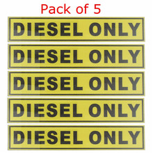 5pcs For DIESEL ONLY Vinyl Sticker Decal Label Oil Warning Fuel Cap Vinyl Safety Truck Oil Gas Fuel Truck Marker 31*156mm