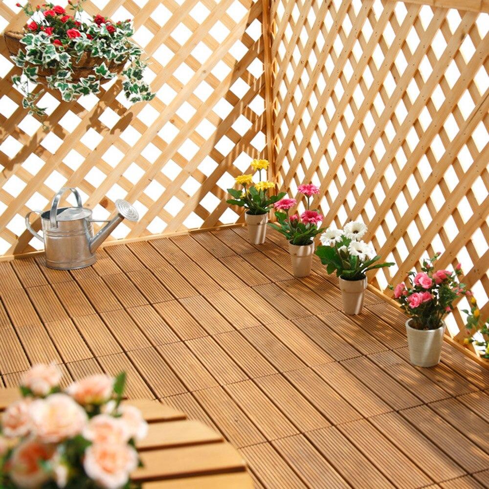 Enipate Interlocking Flooring Tiles In Solid Teak Wood Suitable For