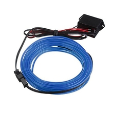 3M EL Cable DC 12V Flexible Neon Lights for Christmas Parties Rave Parties Halloween Costumes Retail Shop Display (Blue)