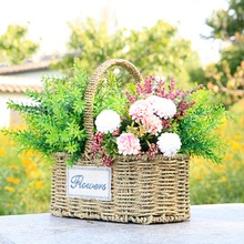 WHISM Handmade Wicker Storage Baskets Hiking Picnic Food Drink Toys Sundries Rattan Woven Storage Container Flower Plant Pots(China)