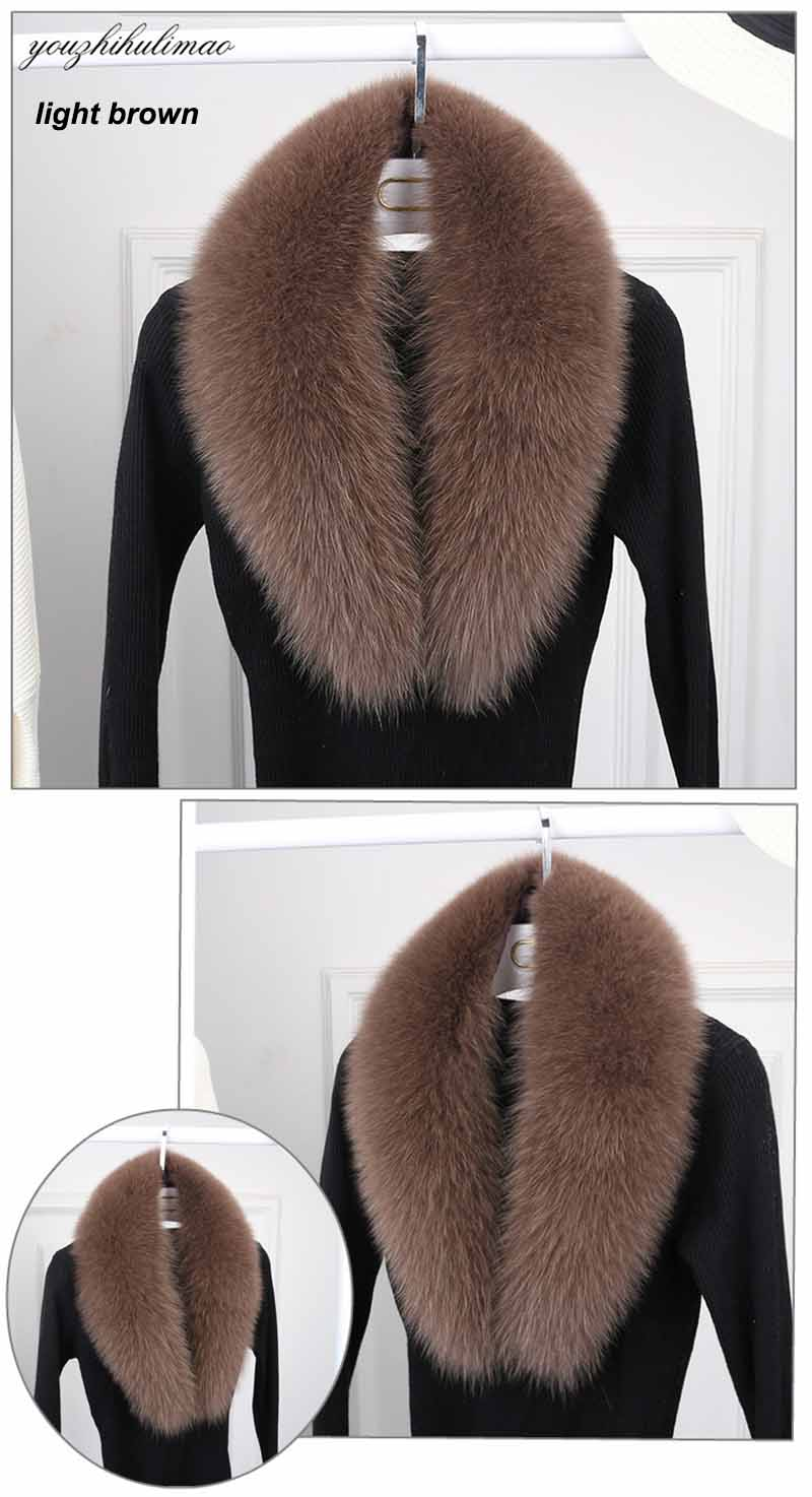 fox fur collar light brown