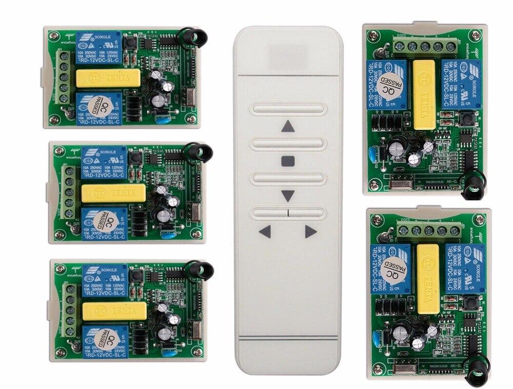 AC220V Digital display intelligent RF remote control switch +5*receiver/ projection screen/Tubular motor garage door / shutters<br>