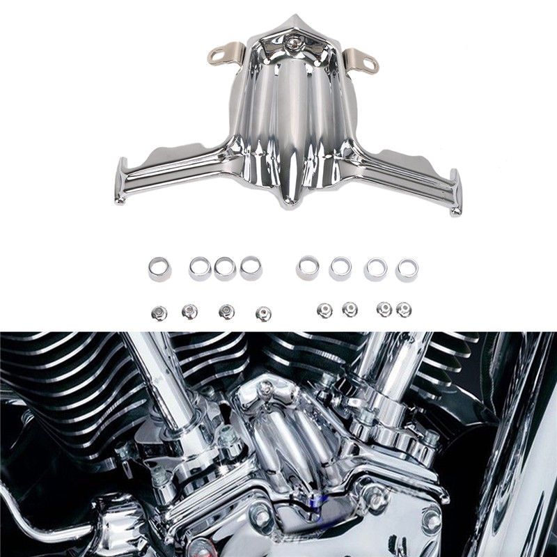 Chrome Aluminum Tappet Lifter Block Accent Cover For Harley Twin Cam Dyna Street Electra Glide 2000 - 2016 Motorcycle Parts C/5<br>