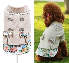 Autumn Spring Dog Jacket Sweet Girl Pet Coat Teddy Princess Dog Outwear Clothes XS S M L XL