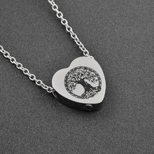 IJD9813 Hot Selling 316L Stainless Steel Life Tree In My Heart Cremation Pendant Necklace Urn Keepsake Memorial Jewelry For Ash