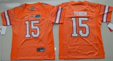 Nike Youth Nike Florida Gators Tim Tebow 15 College Ice Hockey Jerseys - Orange Size S,M,L,XL(China)