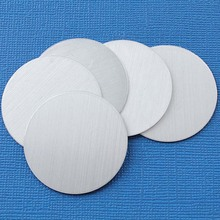 50 Aluminum Stamping Tags Mirror Finish Grey Round Circle Disc Tags Blank 58mm 0758LT