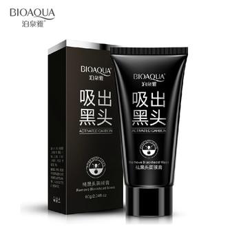 Всасывания черная маска глубокое очищение носа черноголовых remover маска для лица черный глава акне черная грязь маска для лица красоты по уходу за кожей bioaqua