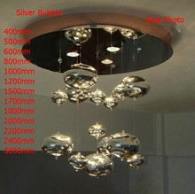 Modern H150cm Murano Due Bubble Ceiling Lights  Glass Lampshade Chrome Lighting sala Home Hanging  Lamp Fixtures New