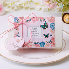 10 Pieces Large Butterfly Candy Box Wedding Favors And Gifts Gilding Candy Paper Box Wedding Gifts For Guests Box Party Supplies(China)
