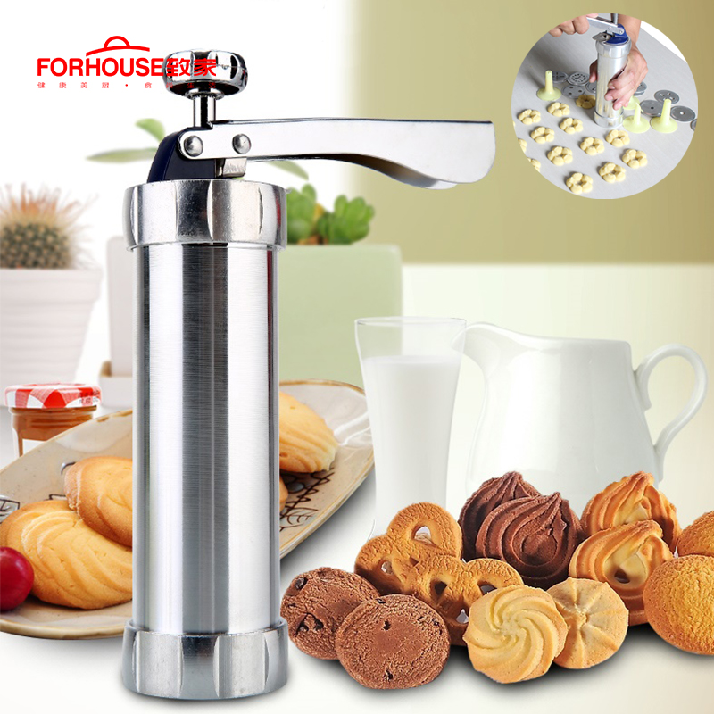 Icing Cake Decorating Set Piping Gun Nozzles Stainless Steel  Biscuit Cookie NEW