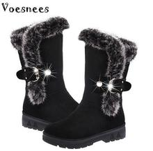 Snow Boots 2017 New Ladies Long Plush Boots Manufacturers Shoes Warm Winter New Female Long Tube Women Shoes Boots(China)