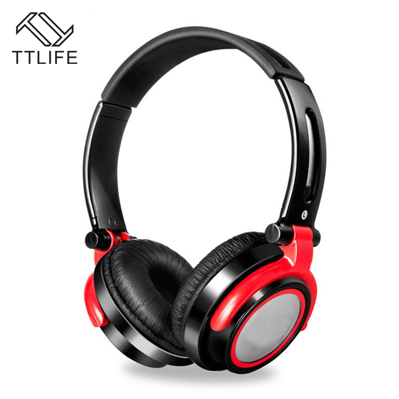 TTLIFE Adjustable Headset Wired Gaming Foldable HiFi Gamer Headphone Volume Control Fone De Ouvido with Mic for Phone Computer<br>