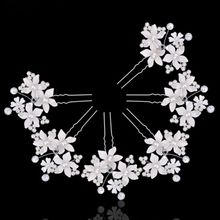 Fashion Women Lady Beautiful Hairpins Crystal For Wedding Simulator Mode Pearl Hair Cilp Hair Band Accessories(China)