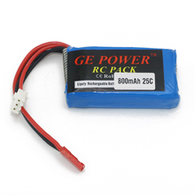 Buy 1pcs Ge Power 7.4V 800MAH 2S 25C Lipo Battery JST Plug RC Toys Models for $7.20 in AliExpress store