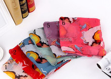 2016 Beauty Print Voile Scarf For Women Fashion Sarongs shawl wrap Long Scarves All season 6 colors 180*90cm 14pcs/lot #3809(China)