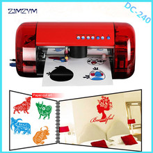 Mini Vinyl Cutter plotter  DC240 PU PVC A4 Size Mini Desktop Portable Cutting Plotter Paper Cutter