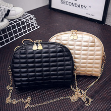 2017 women shoulder bags female party crossbody chain bag plaid handbag quilted sac a main femme women leather handbags(China)