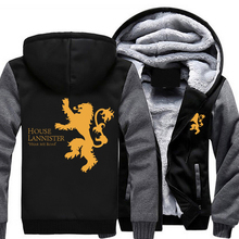 Winter Fleece MEN&WOMEN Hoodie Game of Thrones House Lannister of Casterly Rock Hear Me Roar Coat Zipper Jacket Top Clothing(China)