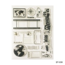 The earth  Design Silicone Transparent Stamp Clear Stamps Set for DIY Scrapbooking Photo Album Decoration Supplies