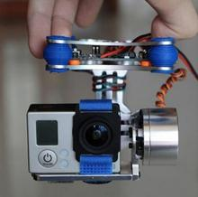 CNC Metal Brushless Camera Gimbal w/Motor & Controller for gopro 2 3 4 xiaomi sj4000 camera FPV