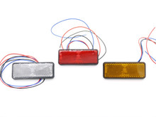 Eonstime 12V 2Pcs 24 LED RED Clear Lens Motorcycle Rectangle Tail Brake Light Stop Light Truck Trailer RV ATV Stop Tail Light(China)