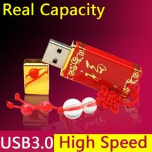 Red Ceramics Ceramic China Style Shaped Usb Beautiful Flash Drives 8gb 16gb 32GB 64GB Usb 3.0 Flash Memory Drive Gift Pendrive