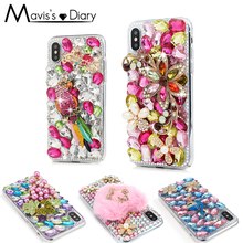 Buy 3D Luxury Bling Crystal Flamingo Rhinestone Case iphone X 6 6S 7 8 Plus Glitter Bling Flower Diamond Cover Coque Capa Funda for $6.40 in AliExpress store