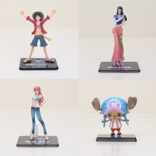 6-16cm Anime One Piece figure After 2 years Monkey D Luffy Nami Chopper Nico PVC Action painted Figure Model Toys