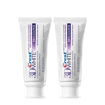 Crest 3D White Toothpastes Brilliance White Glamorous White Toothpastes Deep Clean Oral Hygiene Teeth Whitening 116g*2