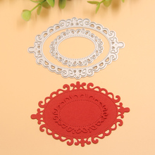 New Metal Painted oval frame Cutting Dies Stencils for DIY Scrapbooking/photo album Decorative Embossing DIY Paper Cards