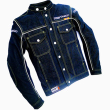 New model cycling jackets ride service motorcycle jean jacket flanchard four seasons denim jean jackets(China)