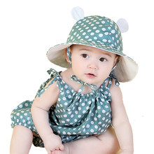 Summer Baby Sun Hat Toddler Hat Baby Girls Sun Cap Boys Sun Hats Baby Clothing accessories fit 5 Months to 3 Years old(China)