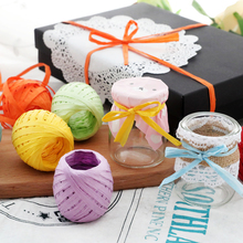 20m DIY Twisted Paper Raffia Ribbon Craft Favor Gift Wrapping Twine Rope Thread Scrapbooks Invitation Flower Packaging Supplies(China)