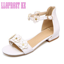 Lloprost ke lady sandals Bohemian new fashion casual shoes white red pink belt buckle quantity imported Italian shoesMAL001