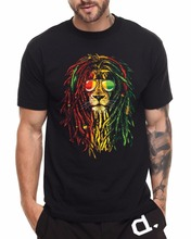 Personalized T Shirt Custom T Shirt Gildan Broadcloth Rasta Lion Reggae Roots Music Bob Marley Dennis Brown Desmond Dekker O-Nec