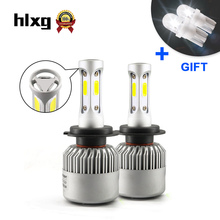 3 Sides H7 led 36W 12000LM Car Headlight Front Bulb Automobiles Headlamp White 6500K Car Lighting For Honda Volkswagen Nissan
