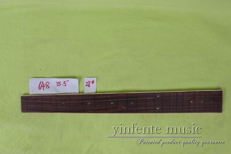 1 pcs25.5 guitar  rose  wood Guitar Fretboard Fingerboard Fretless Guitar parts star  shell INlaid #28<br>