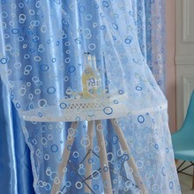 New Circle Pattern Room Voile Window Curtains Sheer Panel Drapes Scarfs Curtains Window Scarfs