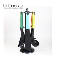 Urcooker 7 IN 1 Non-stick Kitchenware Cookware Colorful Silionce Utensil Sets