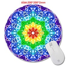 Colorful Circular Persian Carpet Design Print New Round Mouse Pad Antiskid Rubber Mat game Mouse Pad, Office Gift 200*200*2mm