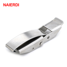 NAIERDI J504 Mild Steel Cabinet Boxes Hasp Lock 85*23 Spring Loaded Latch Catch Toggle Locks For Sliding Door Window Hardware(China)